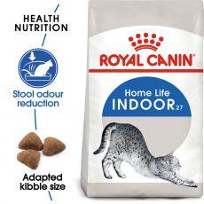 Royal Canin INDOOR 27 - hrană pentru pisicii care trăiesc în casăi 10kg