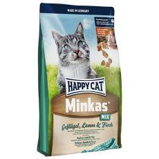 Happy Cat Minkas MIX - pasăre, miel și pește - 10kg