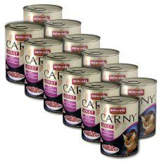 Hrană CARNY ADULT mix de carne - 12 x 400 g