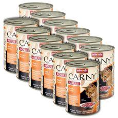 CARNY ADULT hrană cu carne de bovin și carne de pui - 12 x 400 g