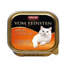 Pateu Animonda Vom Feinsten Adult Cats - paşăre şi viţel 100g