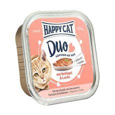 Happy Cat DUO MENU - somon şi pui, 100g