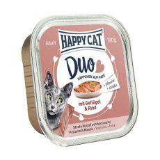 Happy Cat DUO MENU - vită şi pui, 100g