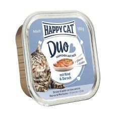 Happy Cat DUO MENU - vită şi peşte, 100g