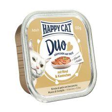 Happy Cat DUO MENU - vită şi iepure, 100g