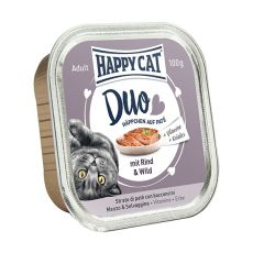 Happy Cat DUO MENU - vită şi vânat, 100g