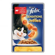 Felix Sensations - carne de vită cu tomate în gelatină, 100 g