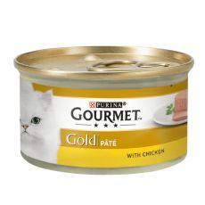 Conservă Gourmet GOLD - pateu cu carne de pui, 85g