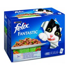 Felix Fantastic - variații carne şi peşte cu legume, 12x100g