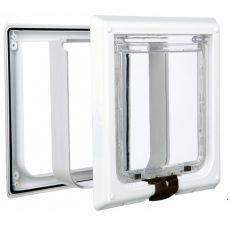 Uşă pentru pisici şi pentru câini de talie mică, alb  - 24 x 24 cm
