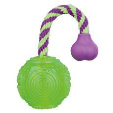 Jucărie câini - minge pe funie 7 x 25 cm