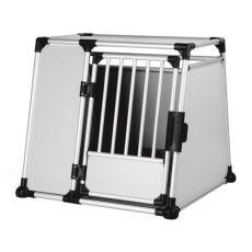 Cușcă din aluminiu pentru transport câini - 94 x 87 x 93 cm
