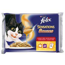Felix Sensations Sauces - carne de curcan şi de miel în sos, 400g