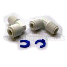 """Conector de 1/4"""" – Adaptor unghiular pentru instalațiile de osmoză inversă – 2 bucăți"""