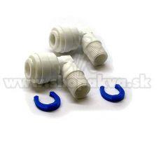 """Conector de 1/8"""" – Adaptor unghiular pentru instalațiile de osmoză inversă – 2 bucăți"""
