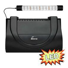 Capac acvariu cu iluminare, 40x25cm LED EXPERT 6W - NEGRU, drept
