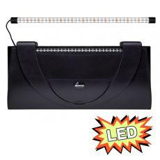 Capac acvariu cu iluminare 80x35cm LED EXPERT 17W - NEGRU, drept