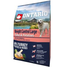 ONTARIO Weight Control Large - turkey & potatoes 2,25kg