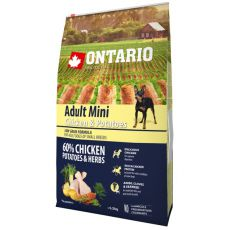 ONTARIO Adult Mini - chicken and potatoes 6,5kg