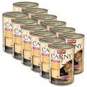 Conservă CARNY ADULT carne de vită, pui + inimi rață - 12 x 400g