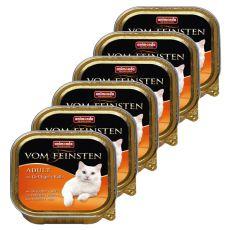 Pateu Animonda Vom Feinsten Adult Cats - paşăre şi viţel 6 x 100g.