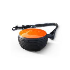 Lesă Lishinu NEON Light Lock handsfree, 3m - portocaliu