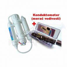Instalație de osmoză inversă 190 l + Aparat de măsurare a conductivității ADWA