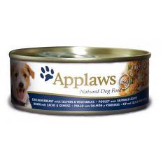 Conservă pentru câini APPLAWS dog, pui, somon, legume- 156g