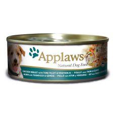 Conservă APPLAWS dog, pui, peşte şi legume-156g