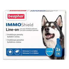 "BEAPHAR IMMO SHIELD CÂINE ""M"" 3 x 3ml"