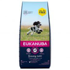 EUKANUBA PUPPY Medium Breed 15kg + 3kg GRATUIT