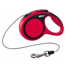 Lesă Flexi NEW COMFORT  XS pentru căței de până la 8 kg, 3 m cablu - roșu