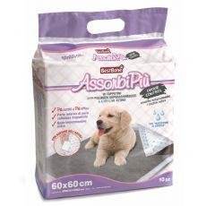 Tampoane igienice pentru câini cu carbon activ 60 x 60 cm, 10 buc