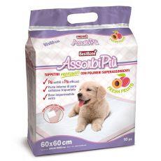 Tampoane igienice pentru câini cu parfum de fructe 60 x 60 cm, 10 buc