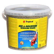 Bastoane TROPICAL cu spirulină pentru  Koi & Goldfish - 21 L / 1,8 kg