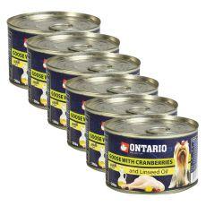 Conservă ONTARIO Gâscă cu afine și ulei din semințe de in, 6x 200g