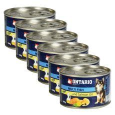 Conservă ONTARIO Pește și ulei de somon, 6 x 200g