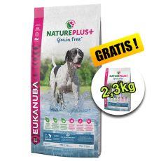 Eukanuba Nature Plus+ Adult Grain Free Salmon 14 + 2,3kg GRATIS