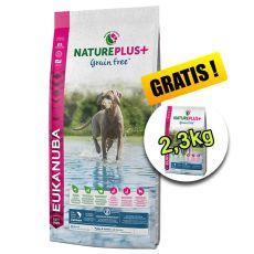 Eukanuba Nature Plus+ Puppy Grain Free Salmon 10 + 2,3kg GRATIS