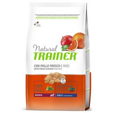 Trainer Natural Adult Medium, chicken and rice 12kg