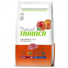 Trainer Natural Adult Medium, beef and rice 12kg
