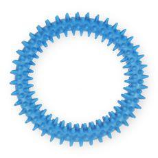 TPR inel din cauciuc cu țepișori - albastru 12,5cm