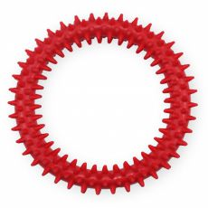 TPR inel din cauciuc cu țepișori - roșu 12,5cm