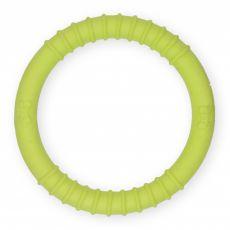 TPR Inel din cauciuc cu proeminențe - galben 9,5cm