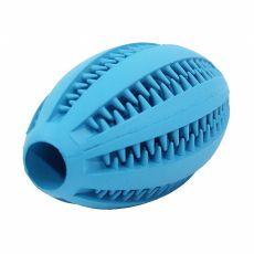 Jucărie pentru căței - minge de rugby, albastră 11 cm