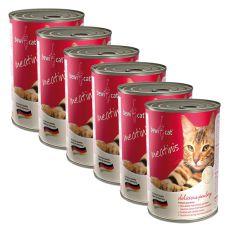 Conservă BEWI CAT Meatinis cu pui, 6 x 400g, 5+1 GRATUIT