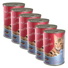 Conserva BEWI CAT Meatinis SOMON - 6 x 400g, 5+1 GRATUIT
