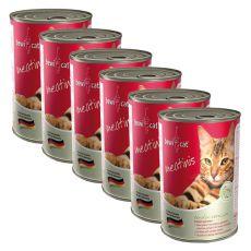 Conservă BEWI CAT Meatinis WILD - 6 x 400g, 5+1 GRATUIT