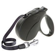 Lesă Amigo Easy Mini  până la 12kg - 3m bandă, neagră
