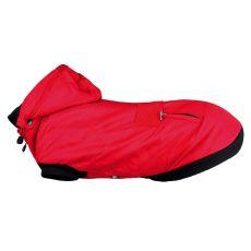 Jachetă de iarnă cu glugă pentru câini, Palermo, roșie - 30cm